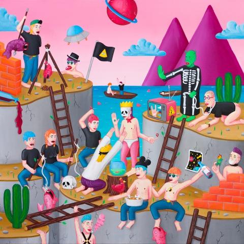 cane painting art barcelona artist streetart